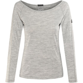 super.natural Scoop Neck LS 175 - T-shirt manches longues Femme - gris